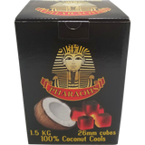 Pharaohs Coconut Cube Charcoal - 26mm - 1.5kg - Pharaohs Hookahs