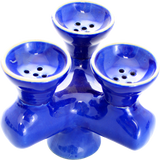 Traditional Ceramic Triple Bowl - Pharaohs Hookahs