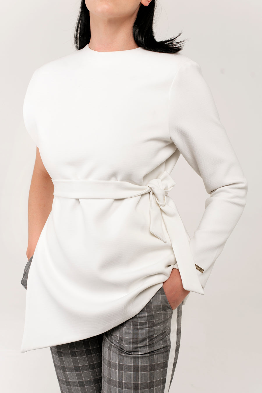 Asymmetric Nursing Jacket - Jeanne-Louise Maternity