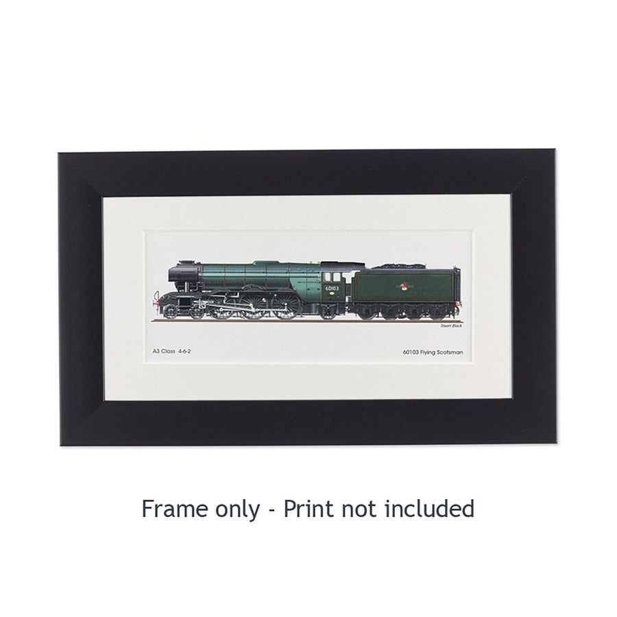 Frame for Small Flying Scotsman Side View Print