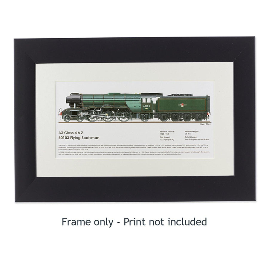 Frame for Large Flying Scotsman Side View Print