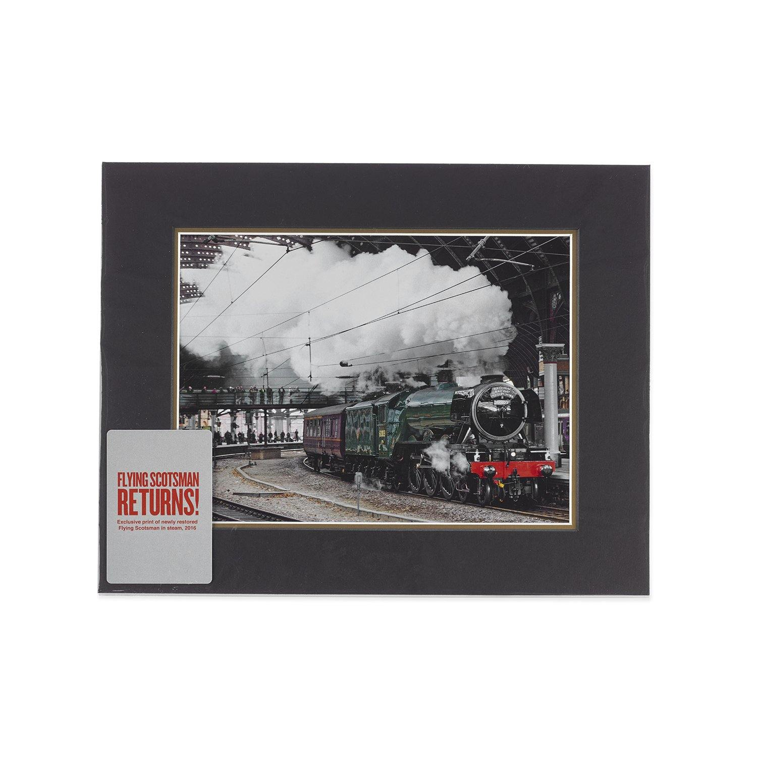 2016 Flying Scotsman Returns to York Station Mounted Print1