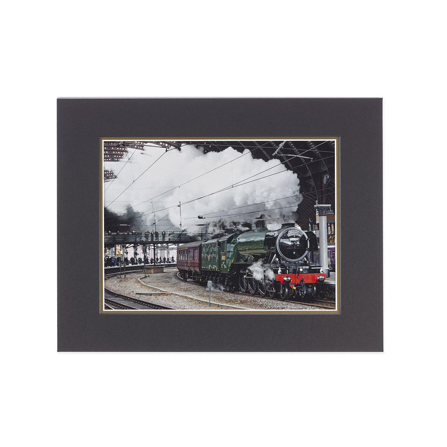 2016 Flying Scotsman Returns to York Station Mounted Print
