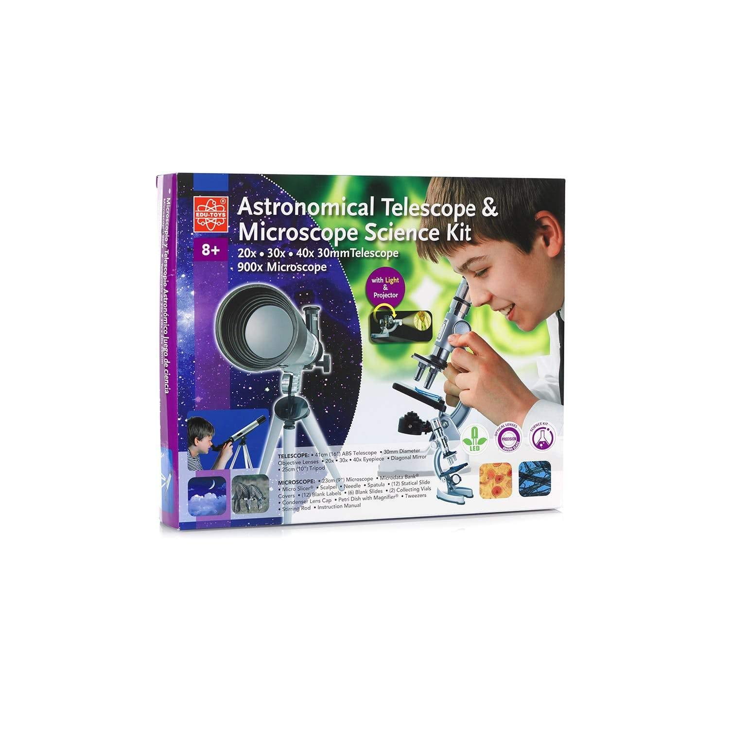 Astronomical Telescope and Microscope Science Kit