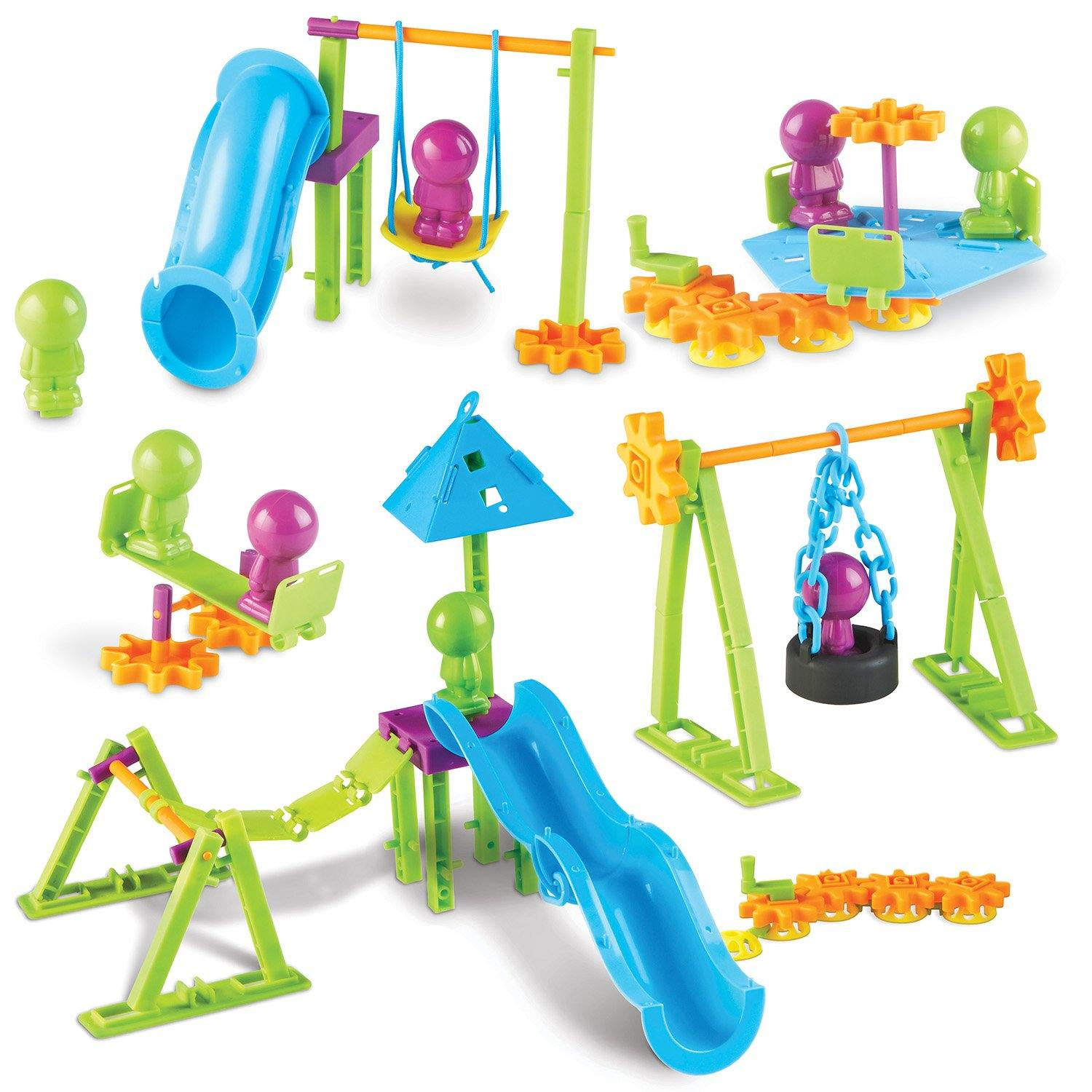 Various components of playground engineering kit