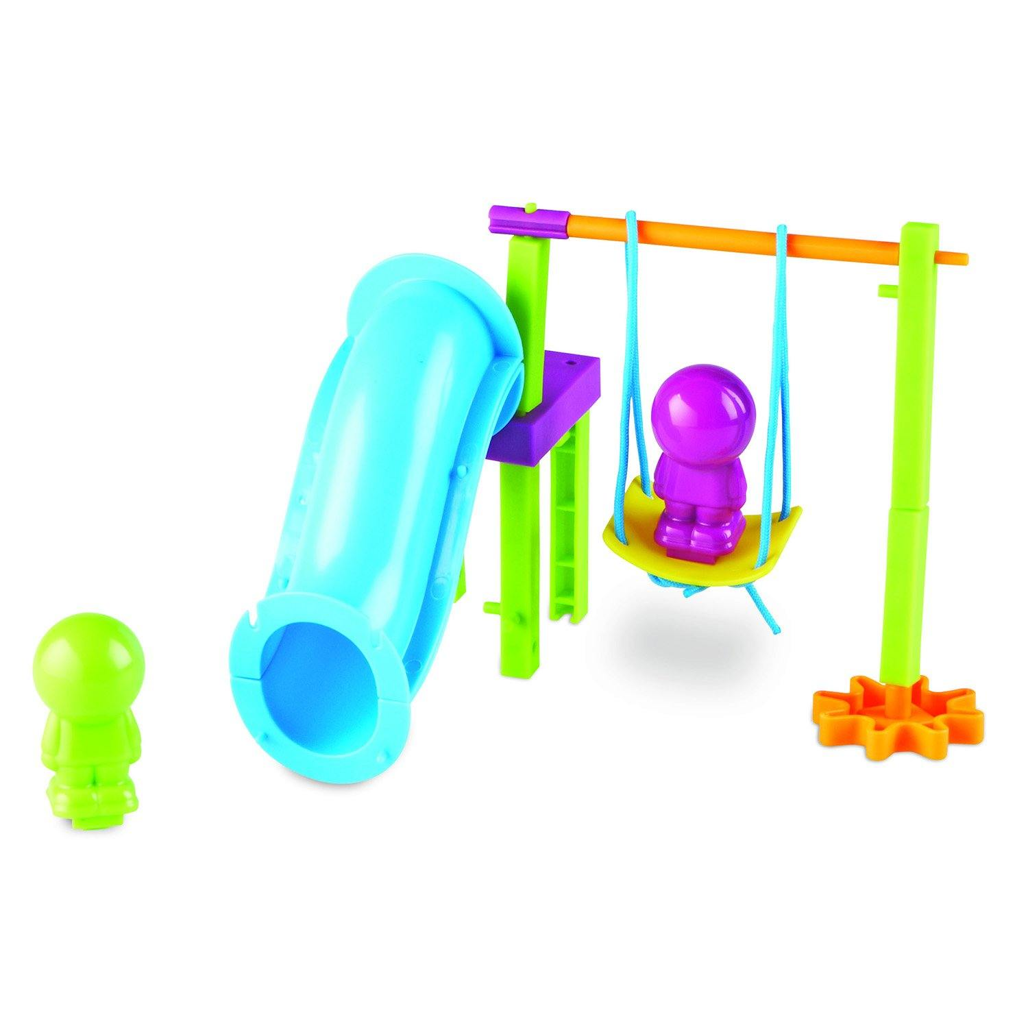 Toy swing and slide set