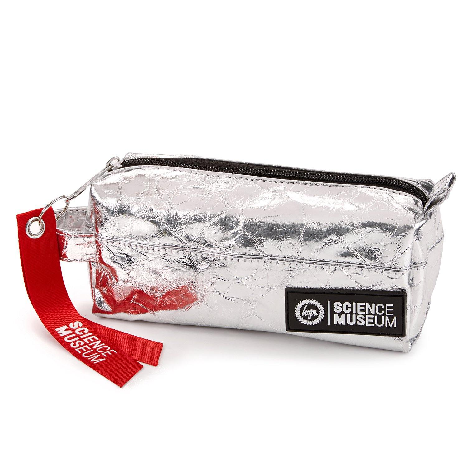Hype X Science Museum Pencil Case Silver