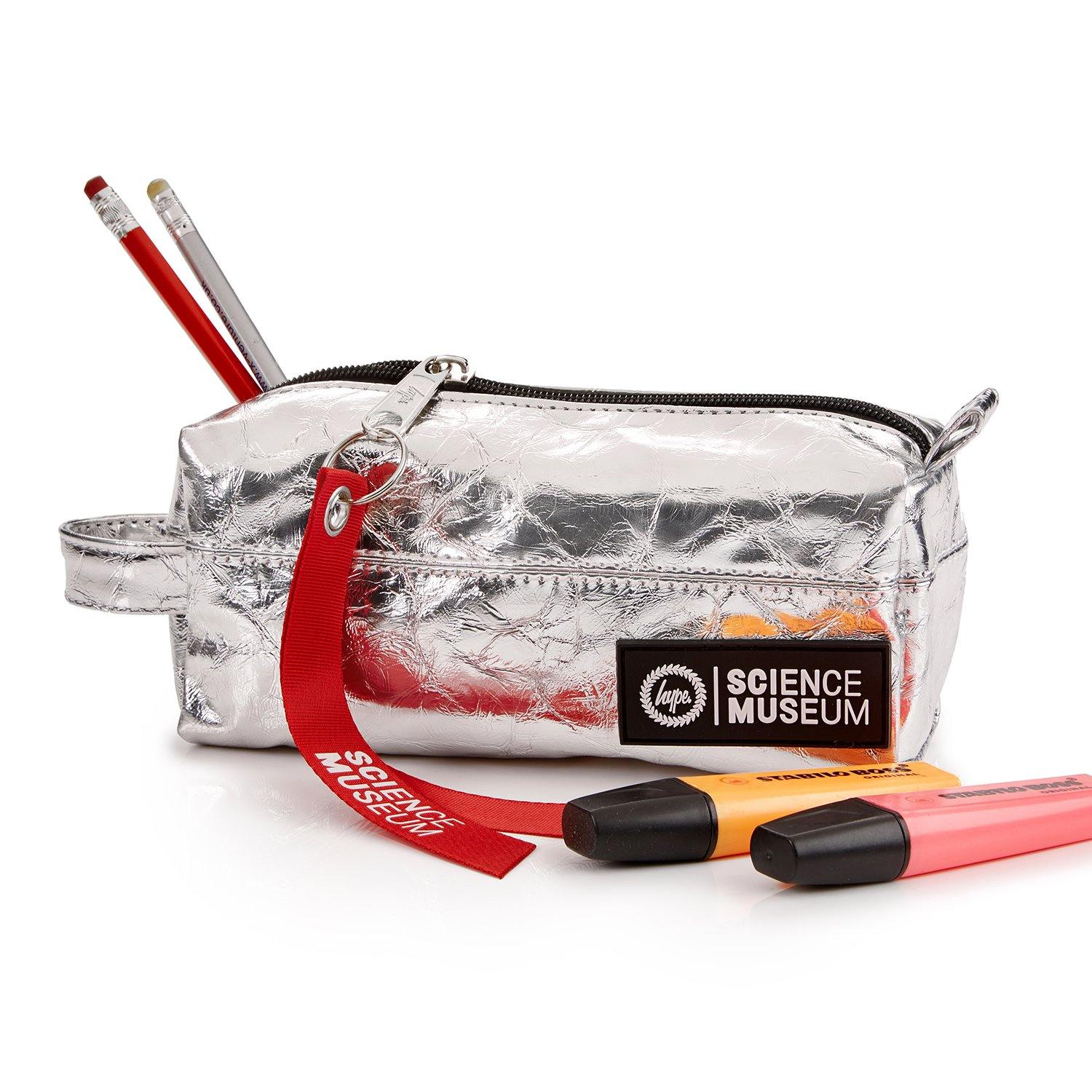 Hype X Science Museum Pencil Case Silver2
