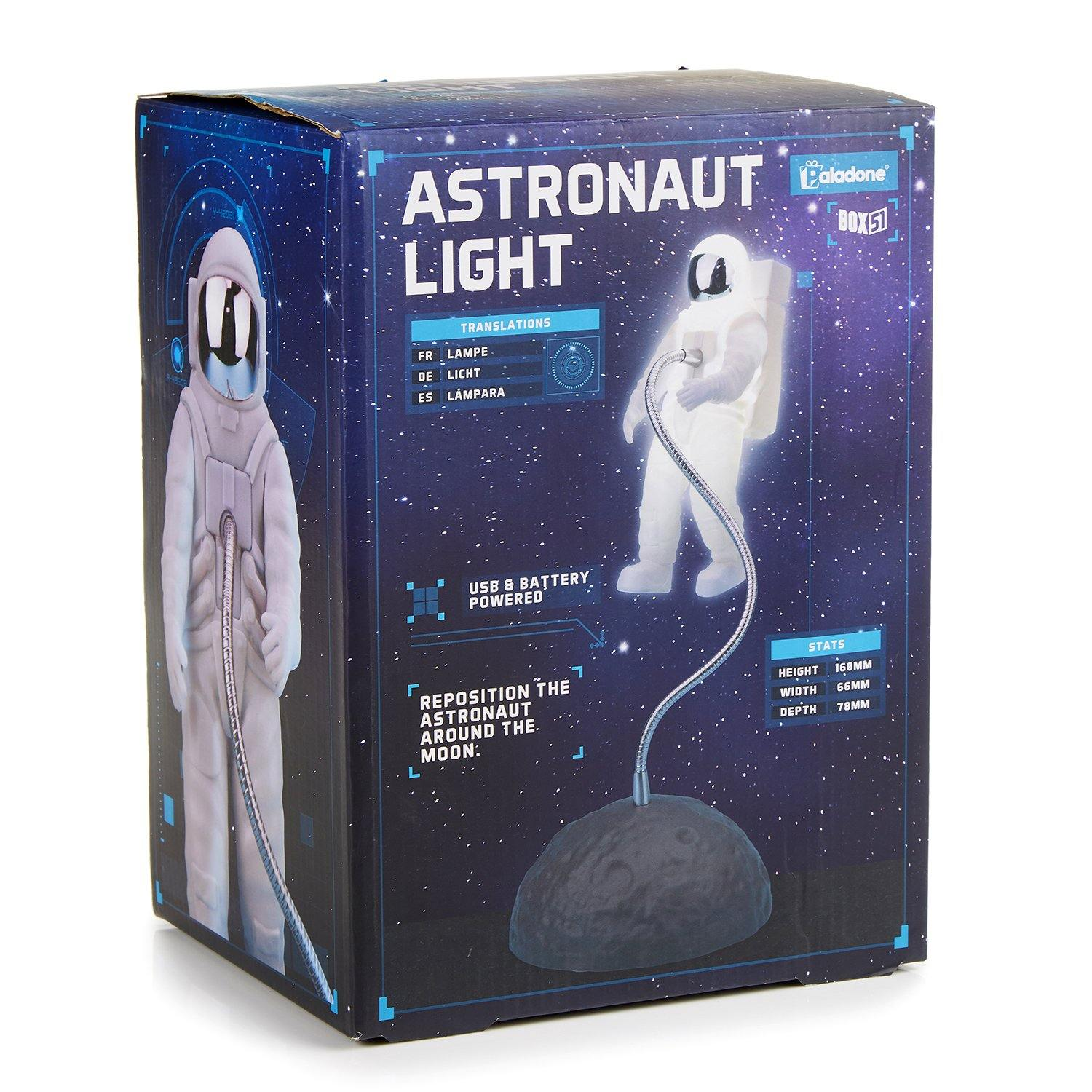 Astronaut floating light box - side