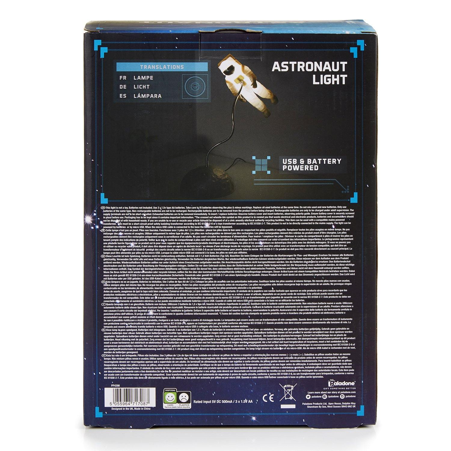 Astronaut floating light box - back
