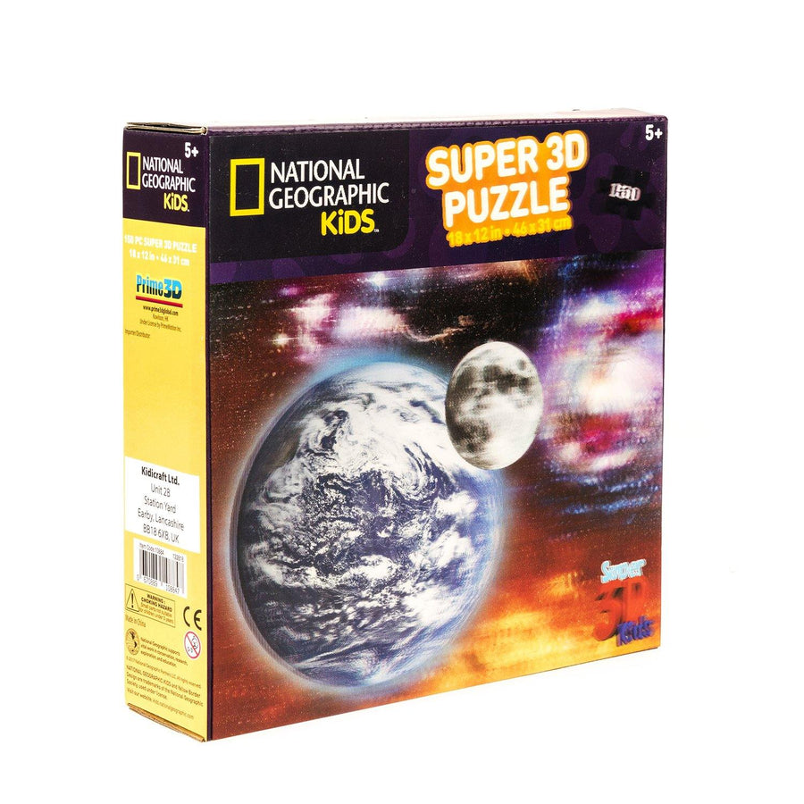 National Geographic 3D Earth and Moon Puzzle