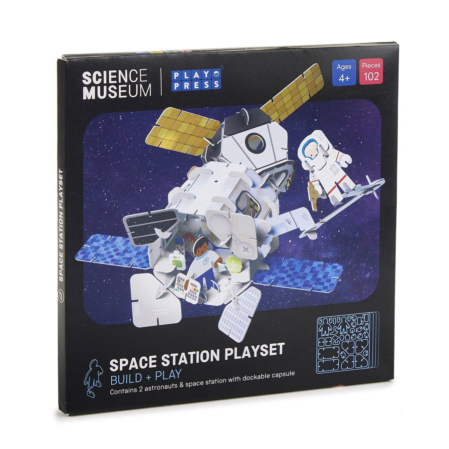 Space station playset box