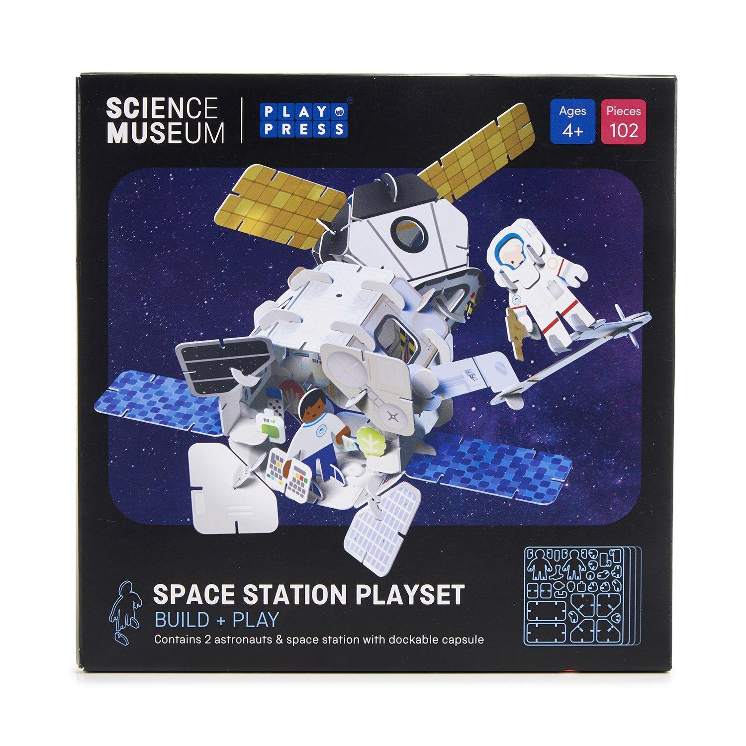 Space station playset box - front