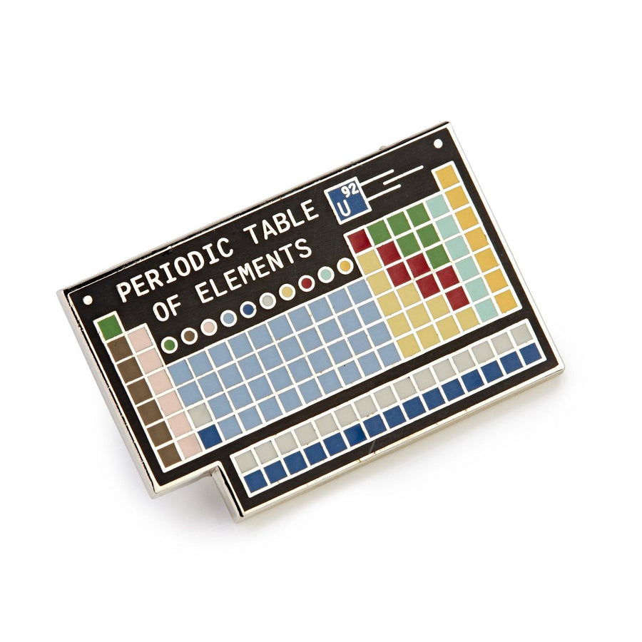 We The Sciency Periodic Table Brooch 1