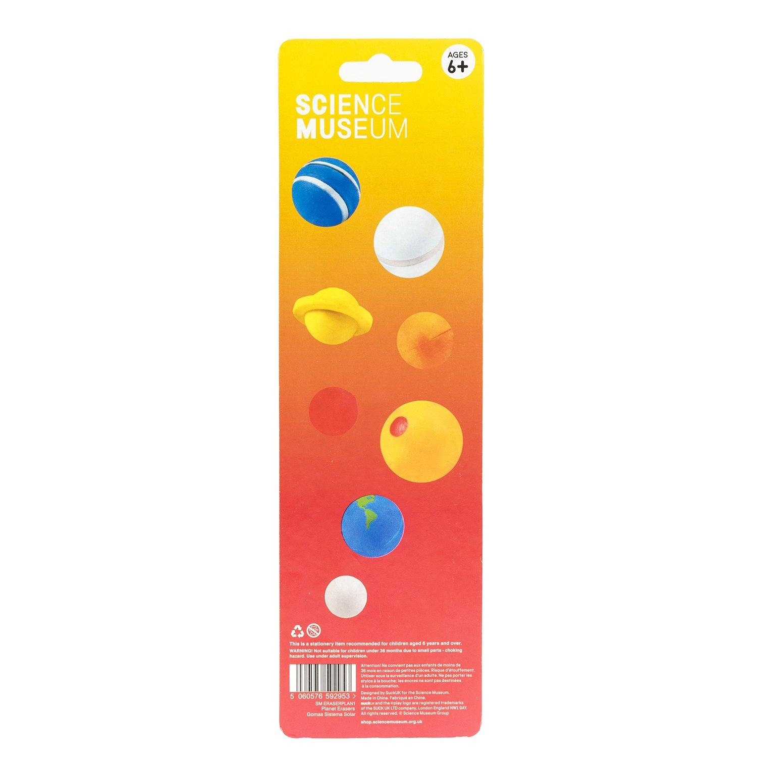 Science Museum Planet Erasers 2