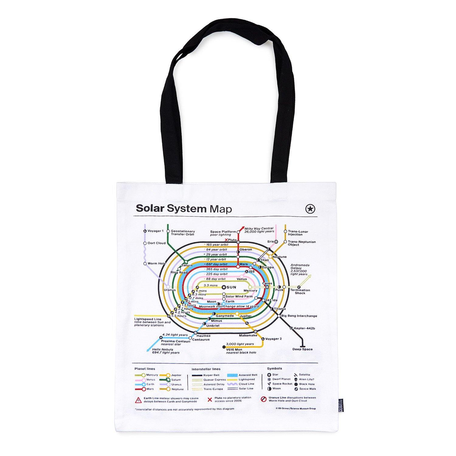 Science Museum Planet Map Tote Bag