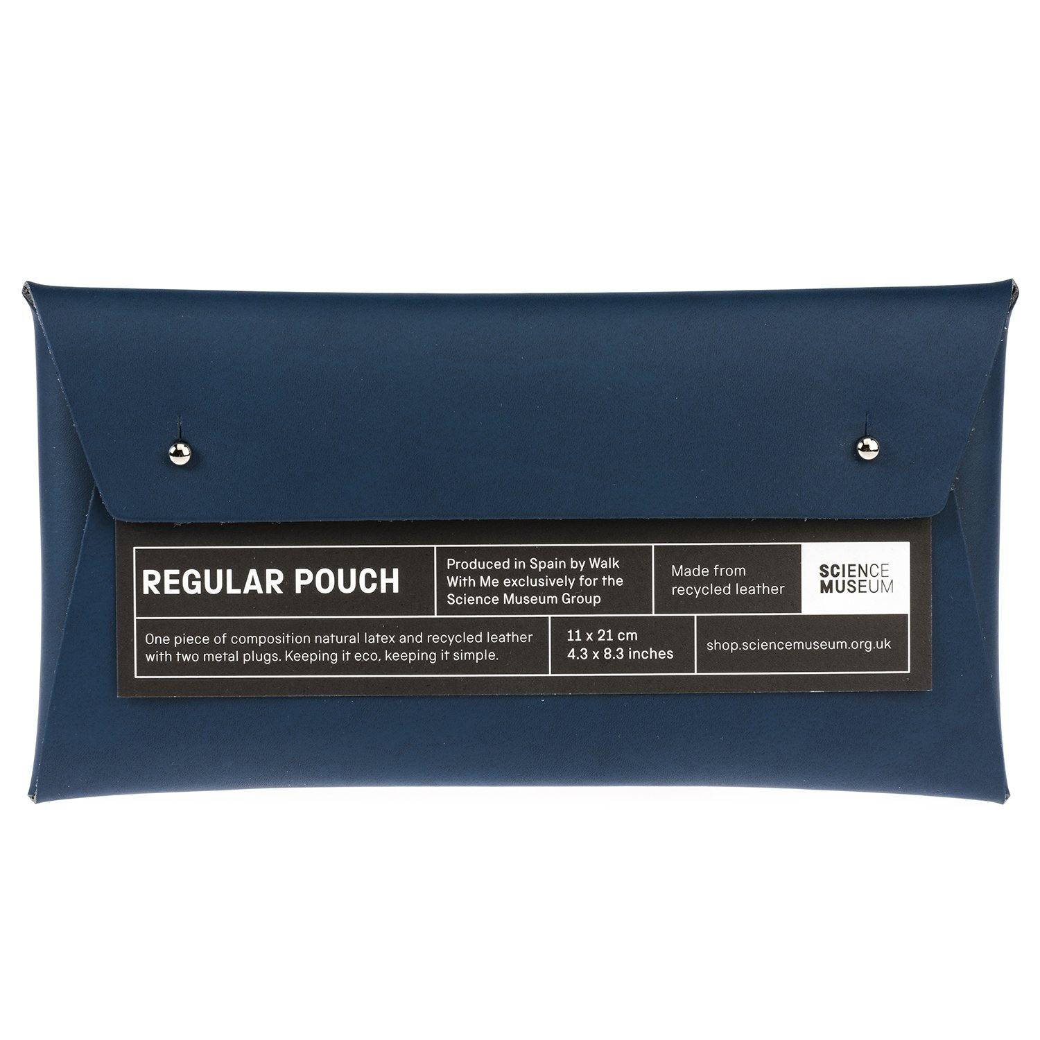 Comisario X Science Museum Leather Pouch Navy