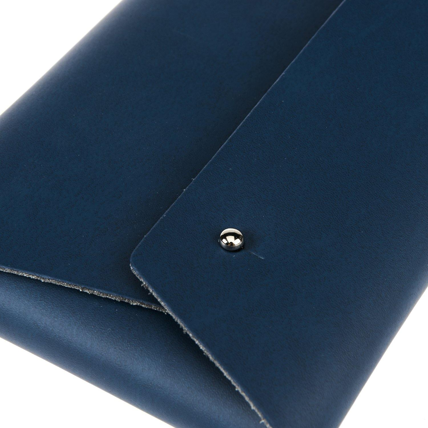 Comisario X Science Museum Leather Pouch Navy2