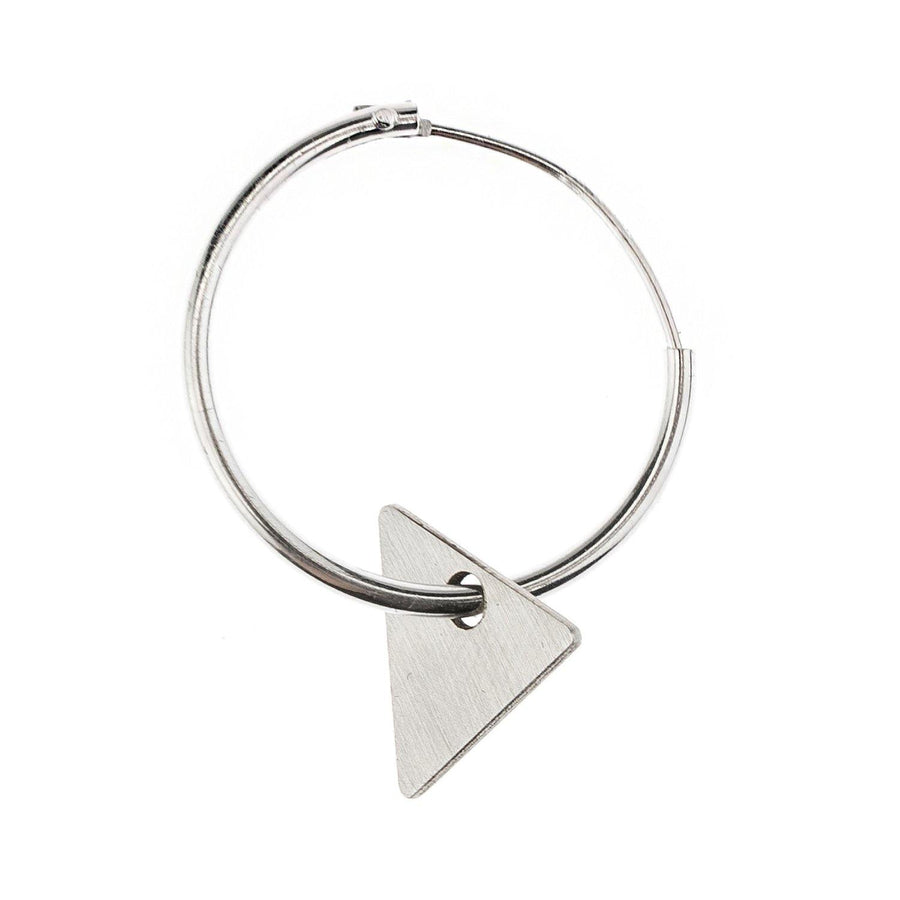 Science Museum Impossible Machines Triangle Silver Earring