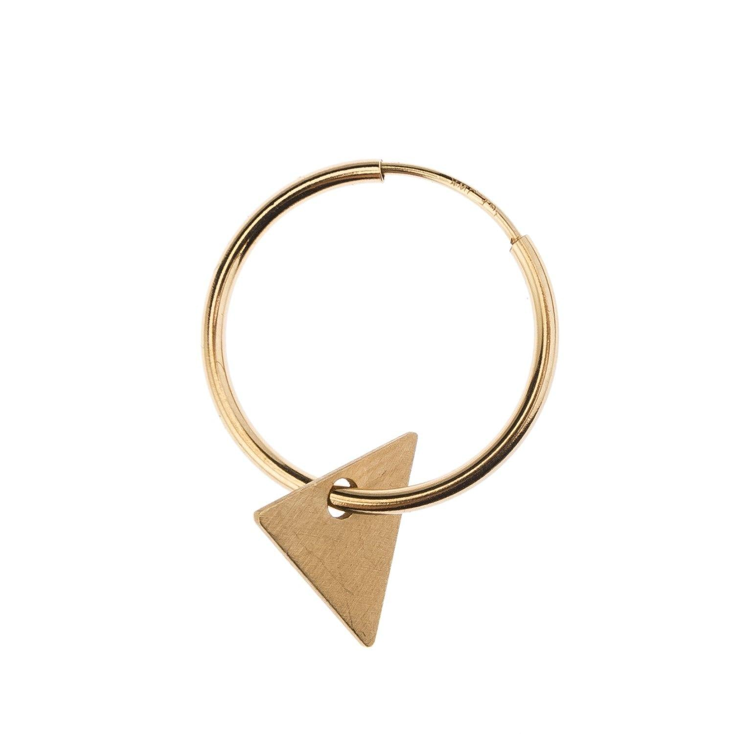 Science Museum Impossible Machines Triangle Gold Earring 1