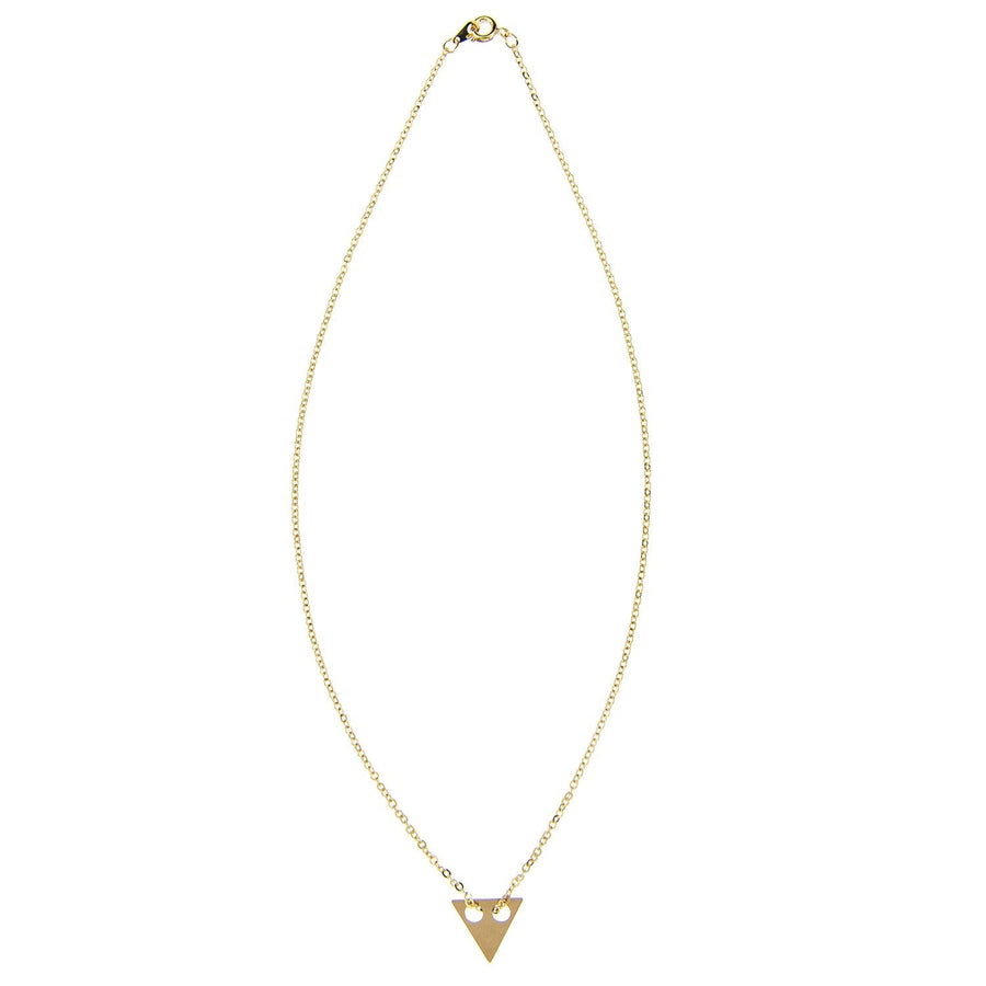Impossible Machines Triangle Gold Necklace 1