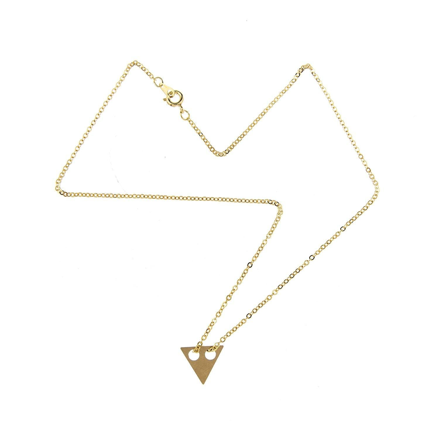 Impossible Machines Triangle Gold Necklace 2