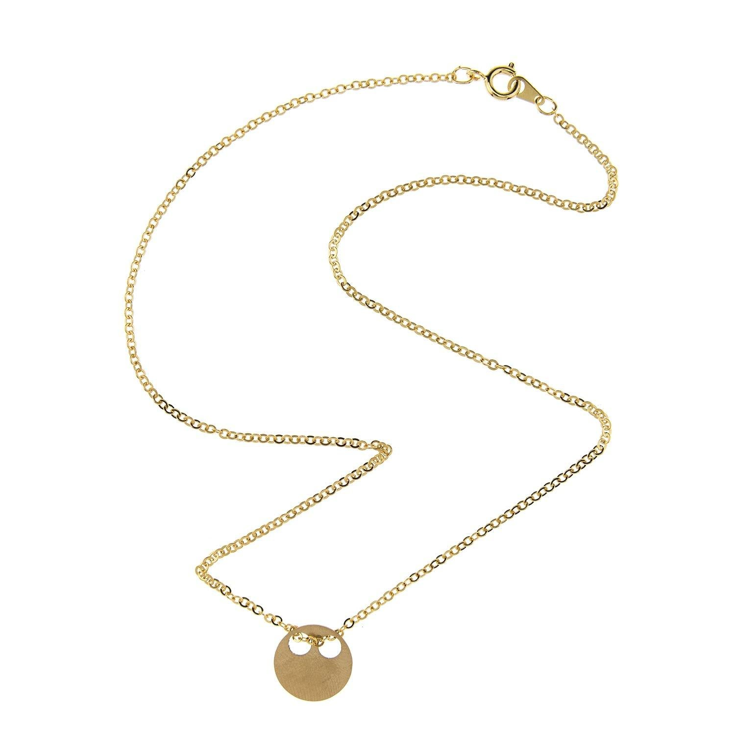 Impossible Machines Circle Gold Necklace 2