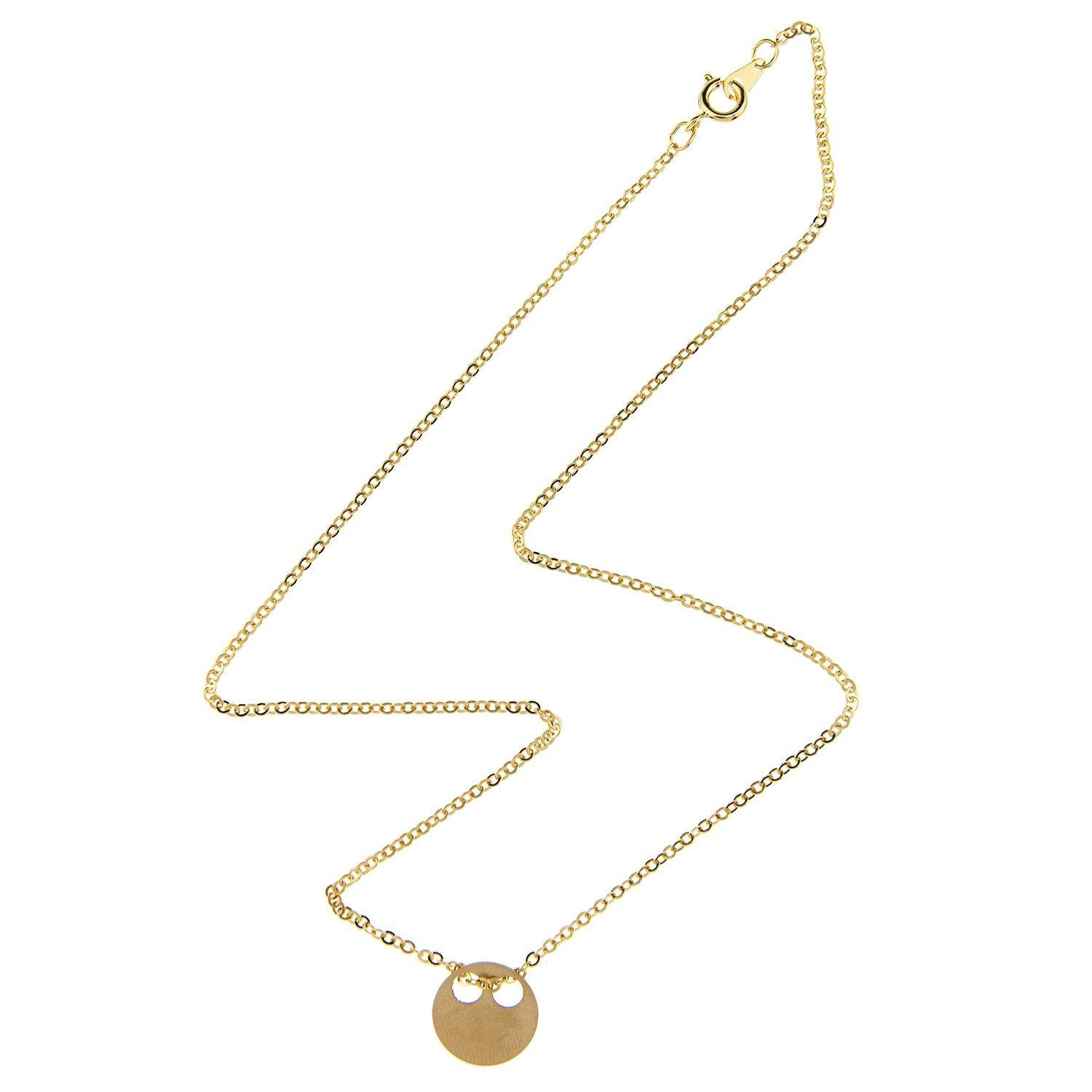 Impossible Machines Circle Gold Necklace 1