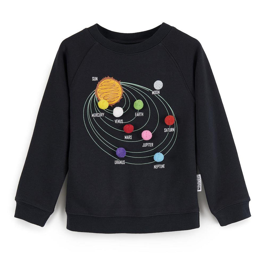 Science Museum Kids Pom Pom Planets Sweatshirt - Clothing - Science Museum Shop