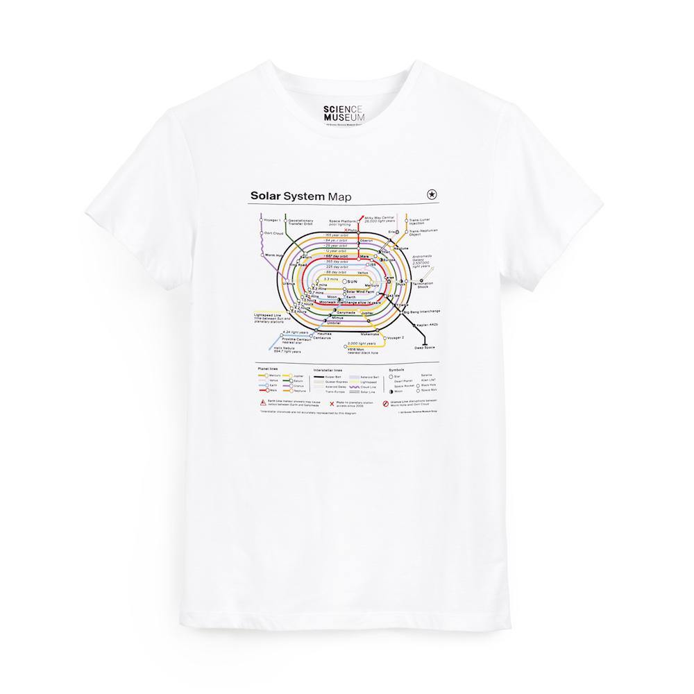 Science Museum Planet Map Childrens T-shirt - Clothing - Science Museum Shop