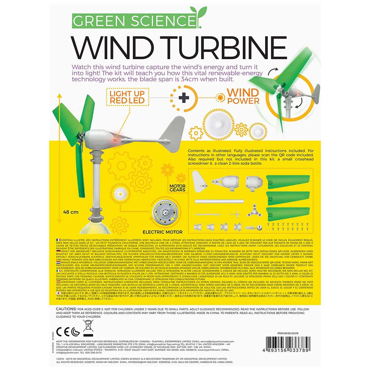 Build Your Own Wind Turbine Science Kit-5