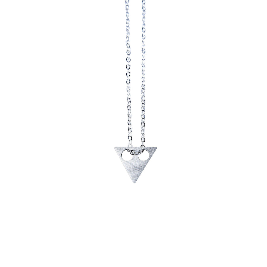 Science Museum Impossible Machine Triangle Silver Necklace