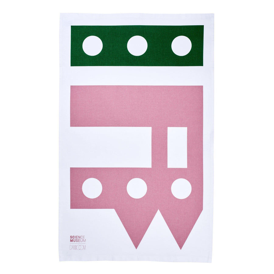 Science Museum Impossible Machines Tea Towel Pink/Green