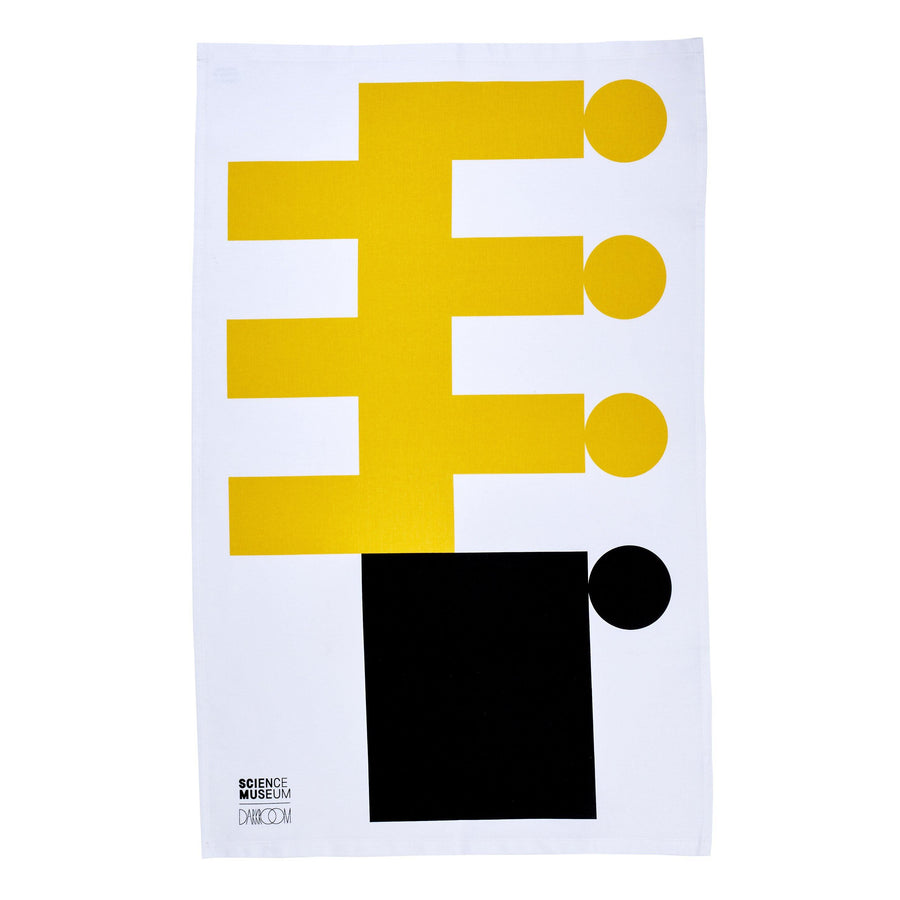 Science Museum Impossible Machines Tea Towel Yellow/Black