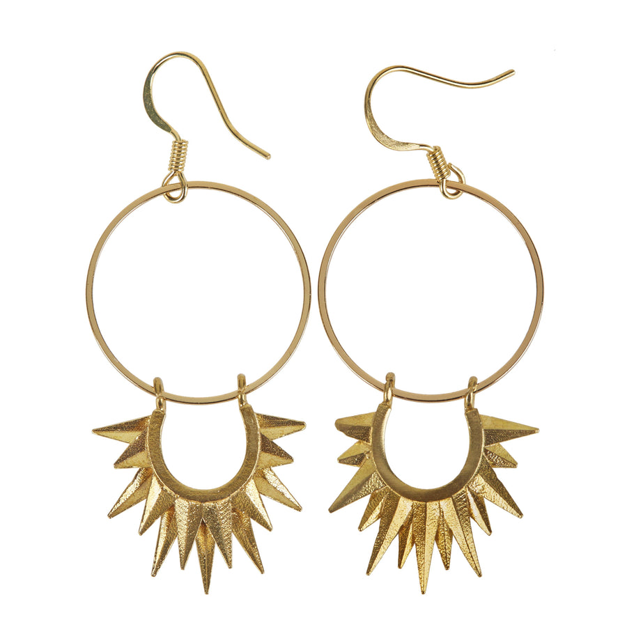 Eclectic Eccentricity X Science Museum Sun Ray Hoop Earrings