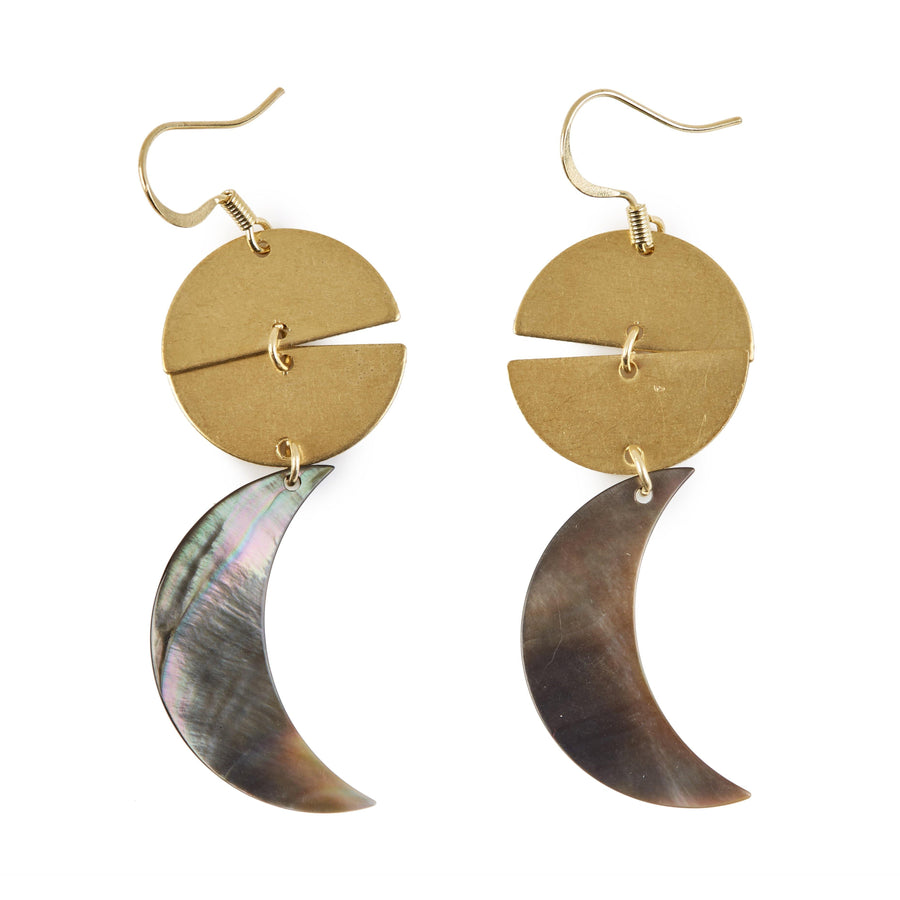Eclectic Eccentricity X Science Museum Shell Moon Earrings