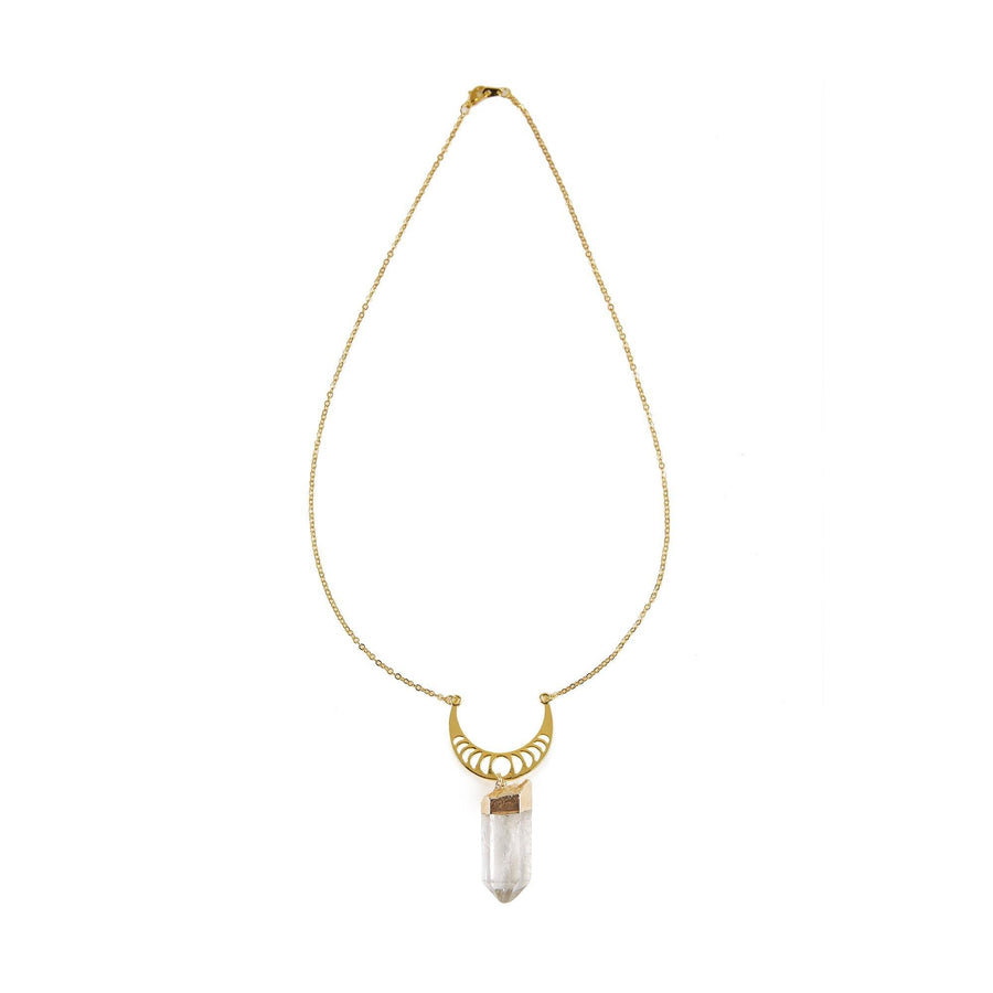 Eclectic Eccentricity X Science Museum Moon Phases Quartz Drop Necklace