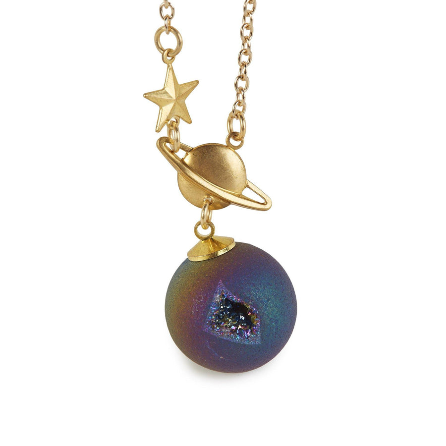 Eclectic Eccentricity X Science Museum Titanium Quartz Orb Necklace