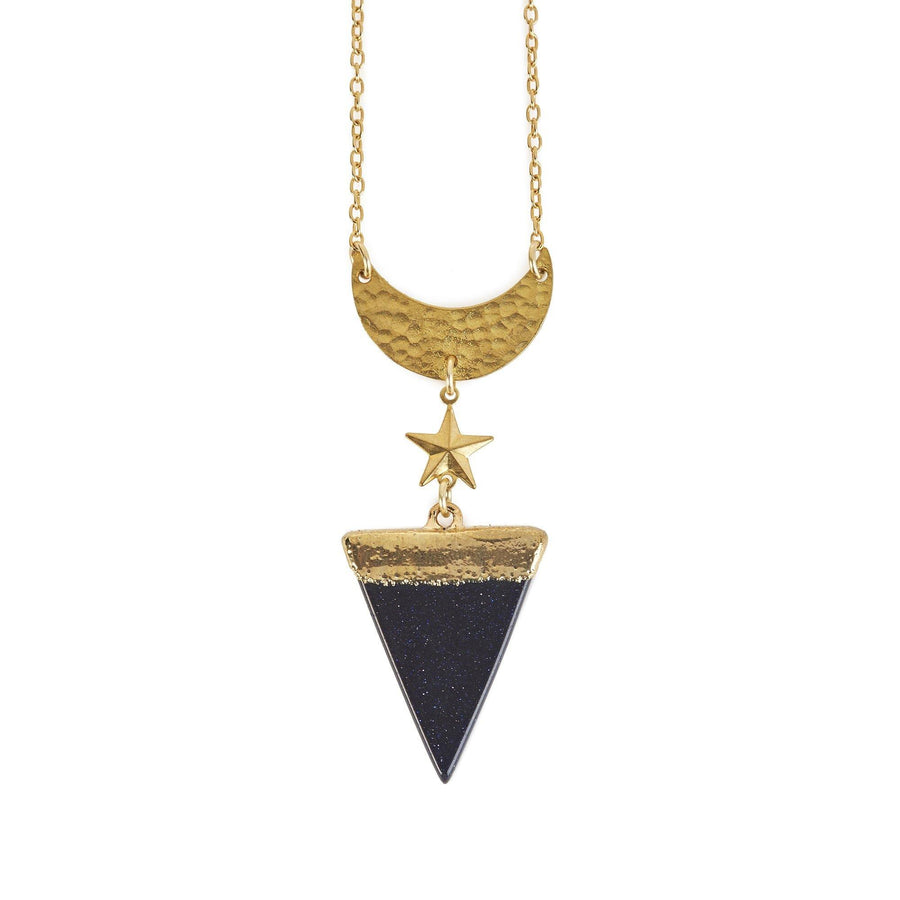 Eclectic Eccentricity X Science Museum Triangle Goldstone Necklace