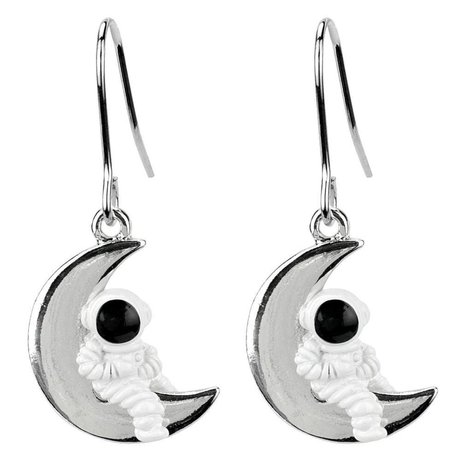Astronaut Moon Drop Earrings