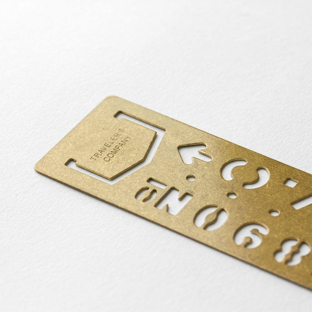 Stencil Bookmark Numbers Brass 1