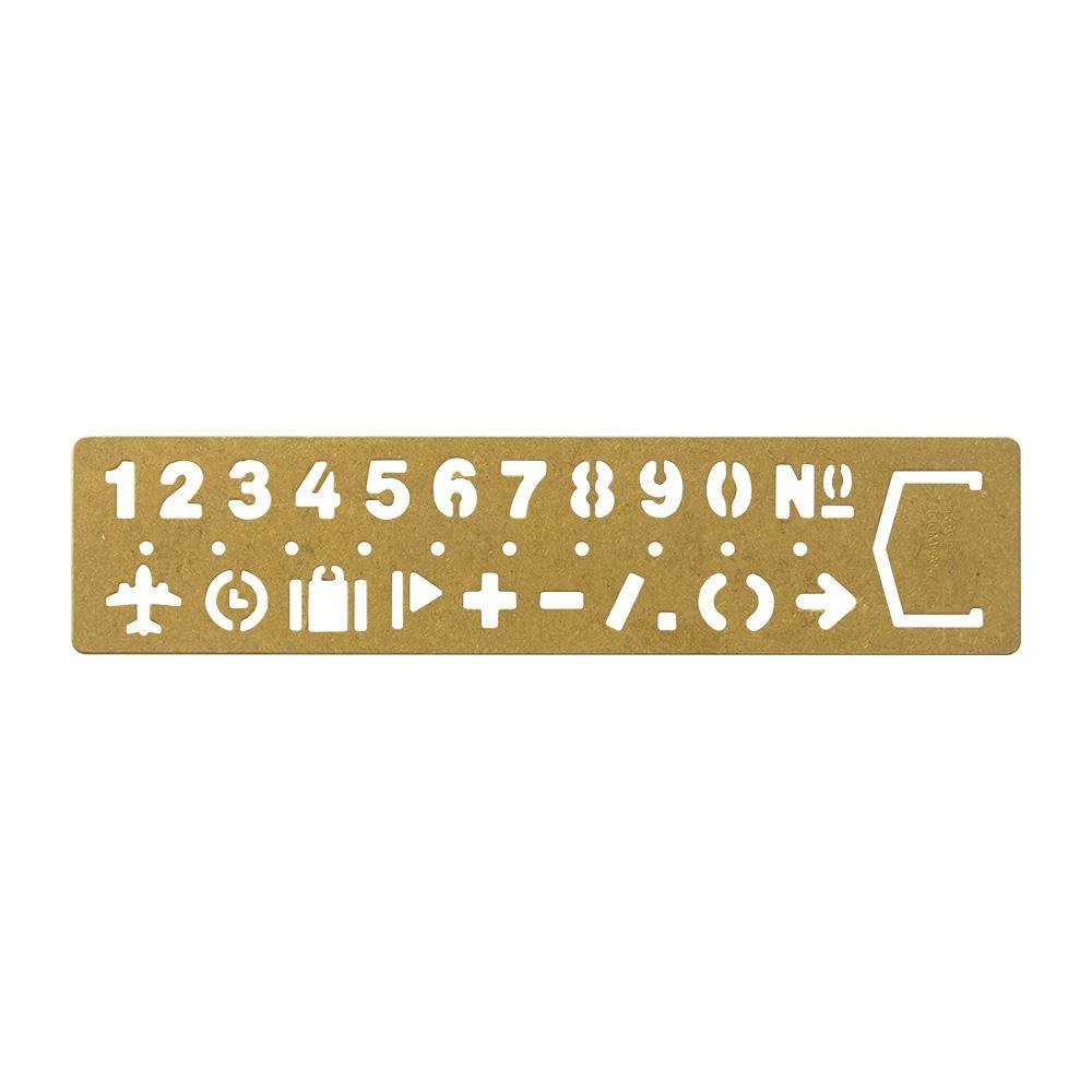 Stencil Bookmark Numbers Brass 3