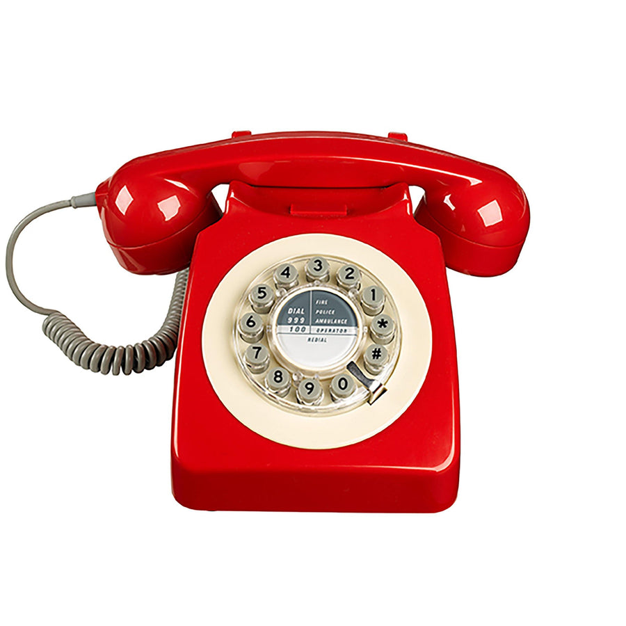 Wild & Wolf Retro Telephone Red