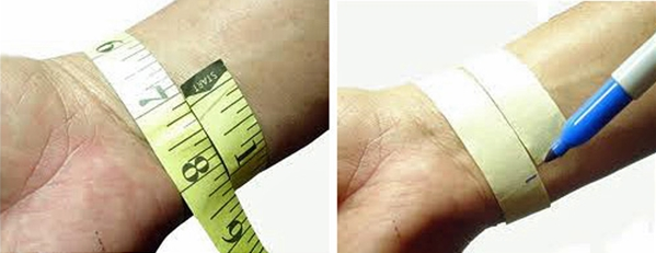 Example Measuring Your Wrist