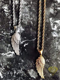 Pendant Angel Wing - White Gold