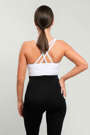 White Energy Sports Bra