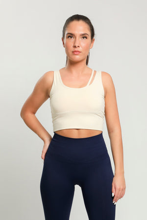 Beige Flex Sports Bra