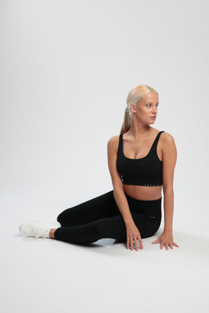 Black Lounge Sports Bra