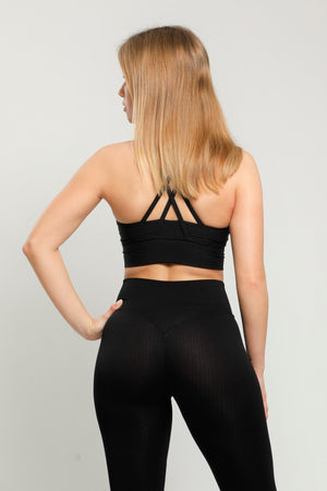Black Energy Sports Bra