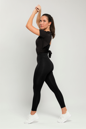 Black Flow High Waisted Leggings